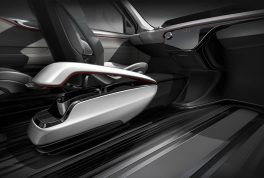 Chrysler Portal Concept floating console and in-floor track mounting system