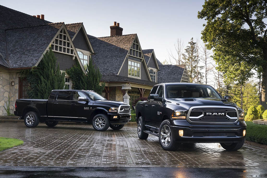 2018 Ram 2500 Limited Tungsten Edition and 2018 Ram 1500 Limited Tungsten Edition
