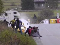 huge Renault Clio Super 1600 rally crash