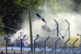 تصادف و نابودی آئودی R18 در هنگام تمرین مسابقات لومانز