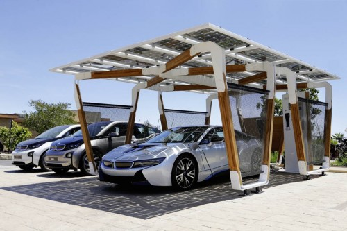 BMW's Solar Carport and Charger Concept is a Smart Match for New i3 and i8
