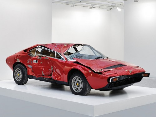 Ferrari Dino Sells at Contemporary Art Exhibition