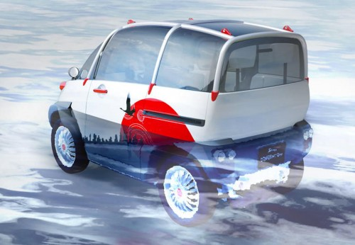 Fomm Concept One floating electric car