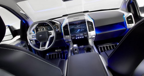 Ford F150 Atlas concept interior