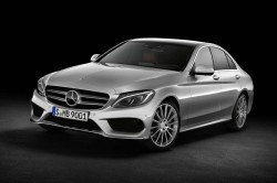Mercedes-Benz C250, AMG Line, Avantgarde, Diamantsilber metallic, Leder