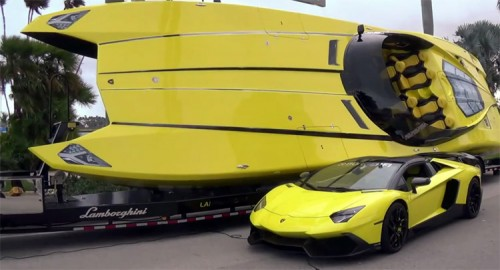 Aventador LP720-4 and Lamborghini Speedboat