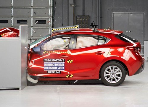 Mazda3 IIHS crash test