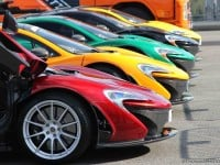 McLaren P1s lined up in Spa-Francorchamps