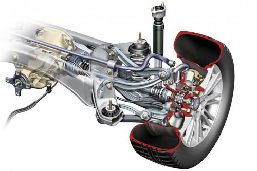 Multi-link suspension on the 2010 Mercedes-Benz E-Class