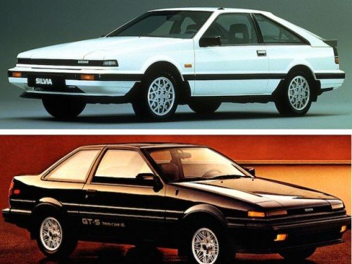 Nissan 200SX (S12) - Toyota Corolla GT-S (AE86)