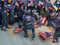 Ricciardo then had to pit for a new front wing