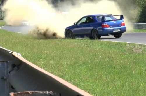 Subaru WRX STI near crash Nurburgring