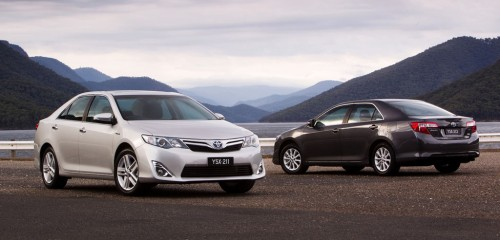 2012 Toyota Camry Hybrid - Camry HL (left) and Camry H