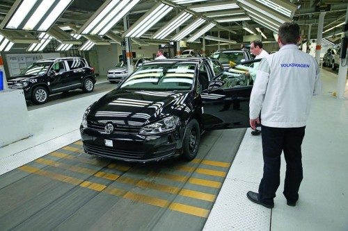 VW Golf assembly line