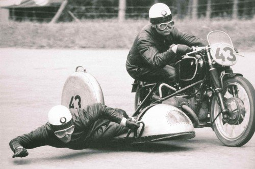 BMW also pioneered bike racing for lunatics