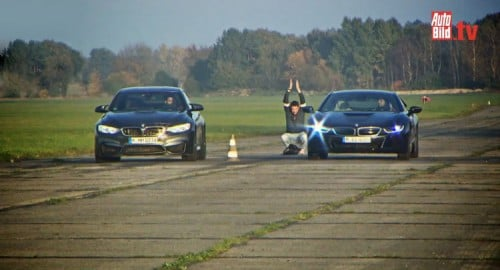 BMW i8 vs. M4 Coupe Dragrace