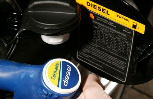 Refuelling with Ultimate diesel