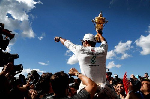 Hamilton's first home win since 2008 was shared with the vast Silverstone crowd