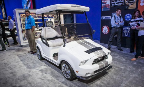 Ford Mustang 50th Anniversary Golf Cart