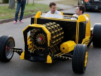 Full size car made from Lego