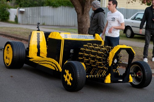 Fullsize car made from Lego