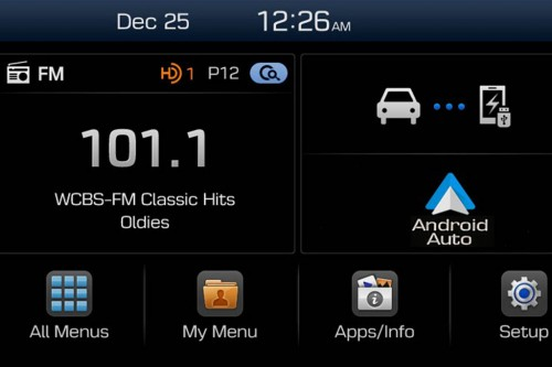 Hyundai audio display infotainment screen android