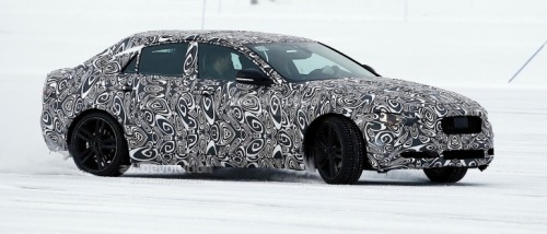 jaguar-xe-prototype-spied-drifting-on-ice