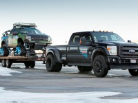 ken block with his ford f-150 raptortrax