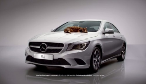 Mercedes-Benz relies on cats to prove the aerodynamic efficiency of the CLA