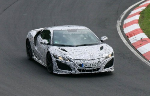production 2015 acura nsx spied during nurburgring testing